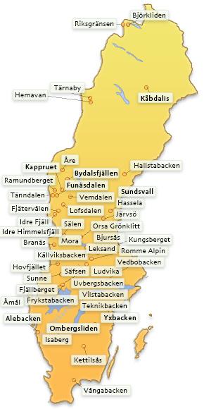 Karta Syd Norge.Webbkameror Se Skidkameror Webbkameror I Skidbackarna